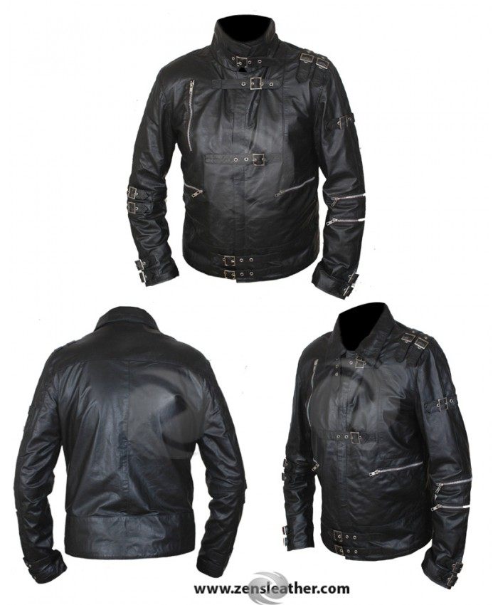 New Michael Jackson's 'BAD' Men's Real Sheep Leather Jacket